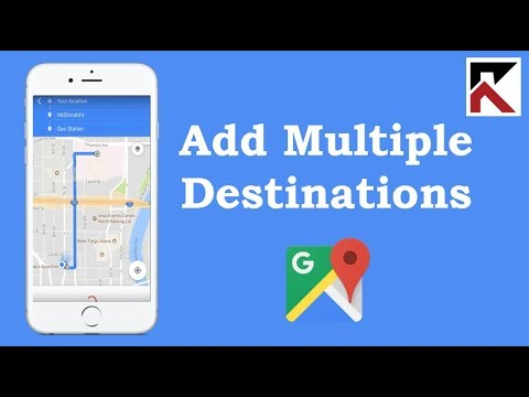 How To Add Multiple Destinations Google Maps iPhone
