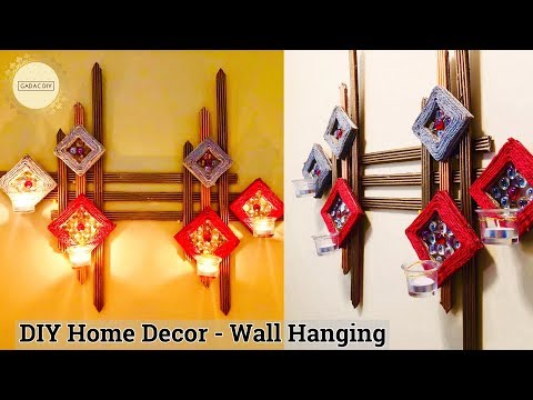 Wall hanging craft ideas | Unique wall hanging | Craft ideas for home decor |  Wall hanging ideas