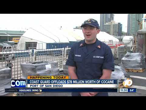 Coast Guard offloads $78M worth of cocaine in San Diego