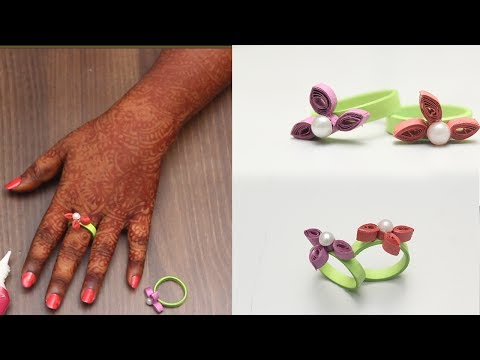 How To Make Hand Rings With Quilling Paper | DIY | Refashion Clothes - DIY Crafts