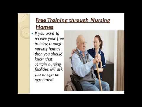 Free CNA Classes in Nursing Homes