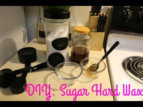 DIY Sugar hard wax