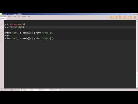Creating Arrays in Ruby - tekniqal.com