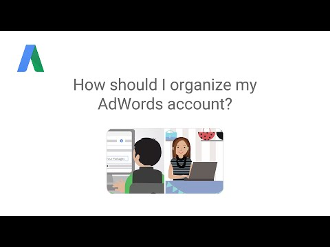 How should I organize my AdWords account?