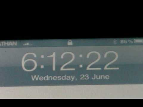 How to get seconds on your lockscreen clock on your ipod touch and iphone.