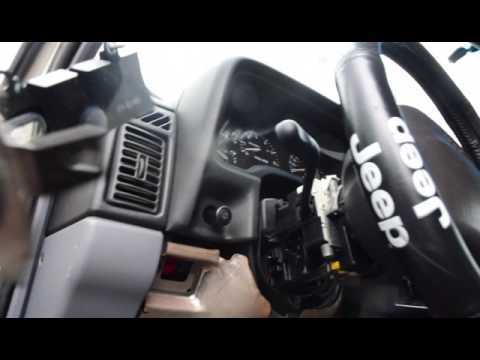 How to replace a Jeep Cherokee XJ turn signal high low beam  lever
