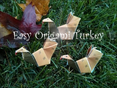 How to Make an Easy Origami Turkey for Thanksgiving (Difficulty 3/10)