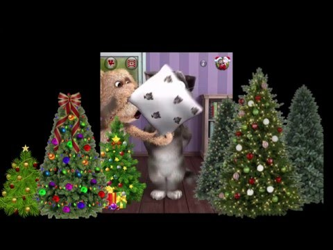 Talking Tom Cat 2 - Happy New Year Wishes and Greetings  - Cartoon For Kids - New Year 2016 - Apple!
