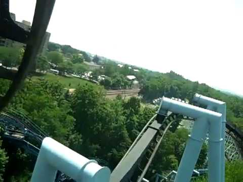 Hershey Park | Roller Coasters | Front Row View on The Great Bear Ride | Keith and Shannon French