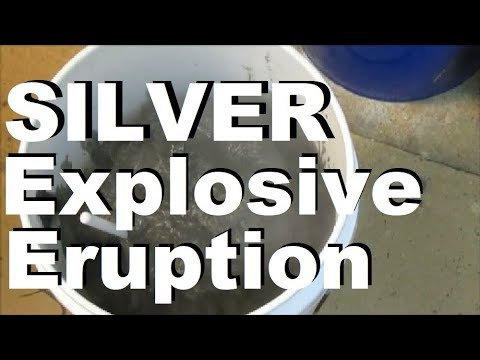 Silver Refining Lye & Sugar Explosive Eruption