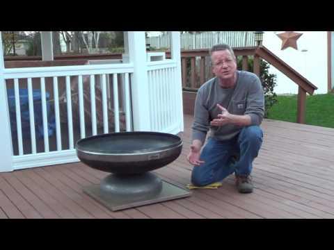 Fire Pit Mat for a Wood Deck