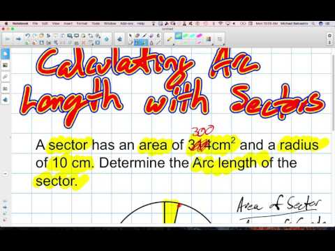 Calculating Arc Length with Sectors Grade 12 College Technology Lesson 8 4