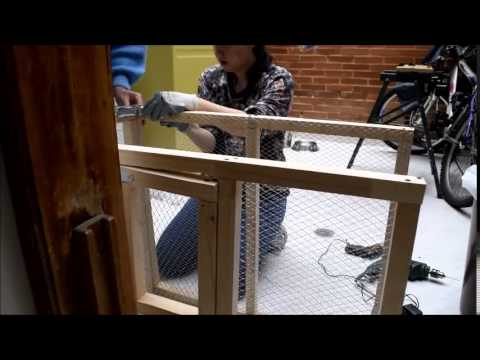 How to make a bird cage - Making the bird cage -Agapornis Roseicolli (lovebirds)