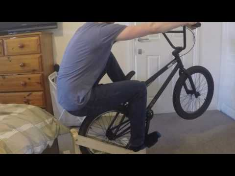 Learning to manual BMX in the bedroom