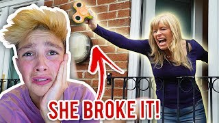 *GOLD* FIDGET SPINNER TOY DESTROYED BY MOM!!! (World