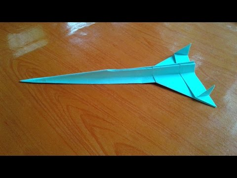 How to make a starfighter paper airplane  Fighter jet paper airplane  paper Craft