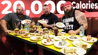20,000 CALORIE STRONGMEN CHEAT MEAL WITH EDDIE HALL & ROBERT OBERST