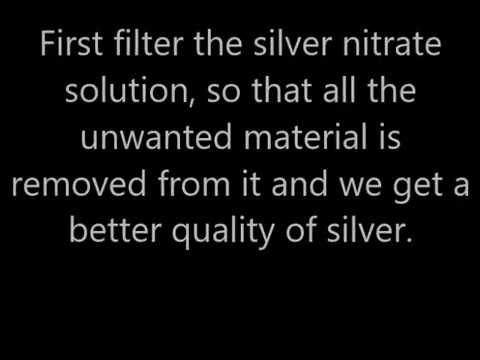 How to Recover Silver from Siver Nitrate || Best Method
