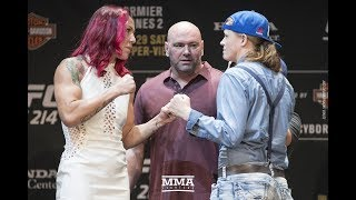 UFC 214: Cris Cyborg vs. Tonya Evinger Staredown - MMA Fighting
