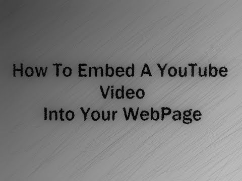 How to embed a YouTube video into your webpage using html