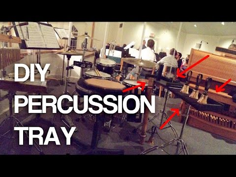 How To Make a Percussion Tray/Trap Table