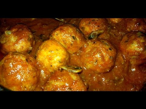 Spaghetti and Cheese Stuffed Meatballs