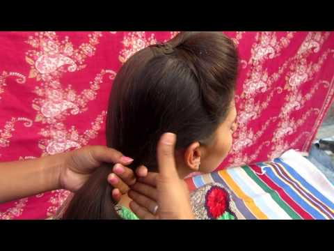 Front Puff With Fishtail Braid Hairstyle Tutorial