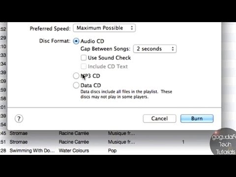 How to Burn CDs in iTunes