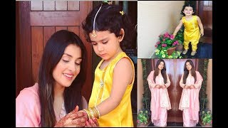 Ayeza Khan with her Daughter Hoorain.