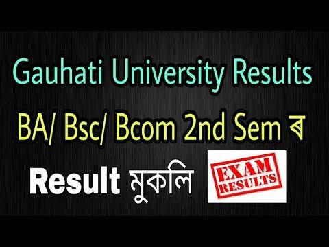 Gauhati University Results : BA/BSc/BCom 2nd Semester Result 2018 (Major/ General)