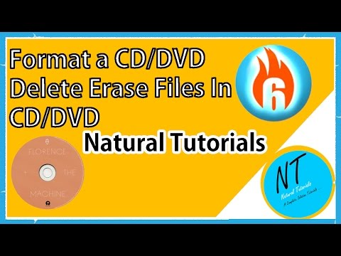 How To Format A CD DVD Erase All Files In CD DVD Natural Tutorials Using Ashampoo Burning Studio