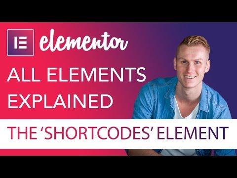 Shortcodes Element Tutorial | Elementor