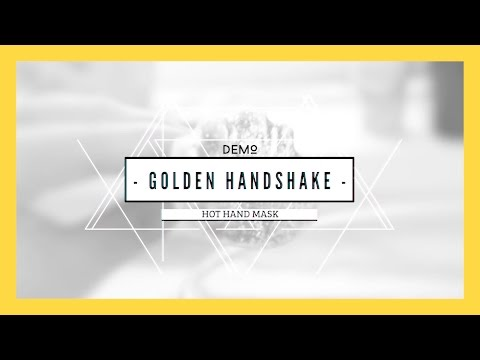 LUSH Golden Handshake Hot Hand Mask Demo