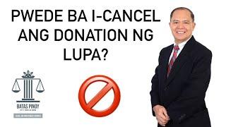 REVOCATION OR PAGPAPAWALANG BISA NG DONATION