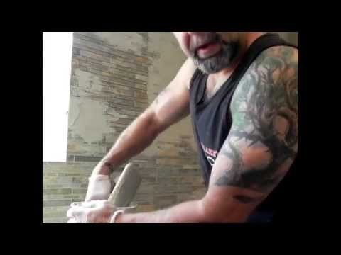 How to Grout a Stone Glass tile backsplash Tips &Tricks #DaveBlake Licesne