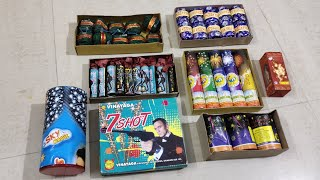 7 types of New Crackers Testing | Testing Different types of Diwali Fireworks Stash 2019 | Crackers