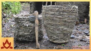 Primitive Technology: Baskets and stone hatchet