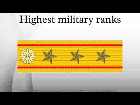Highest military ranks