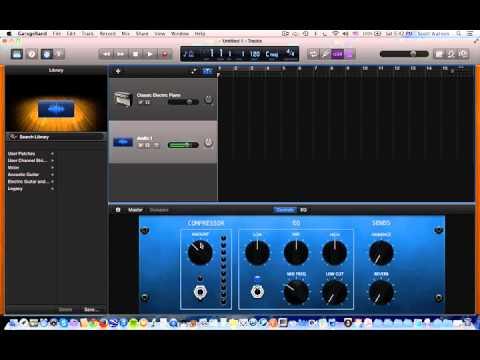 GarageBand: USB Mic Recording
