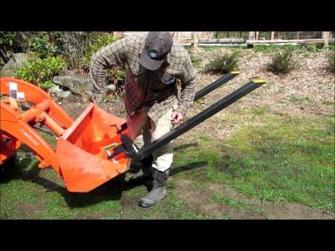 Titan Clamp on Pallet Forks for Loader Tractor or Skid Steer