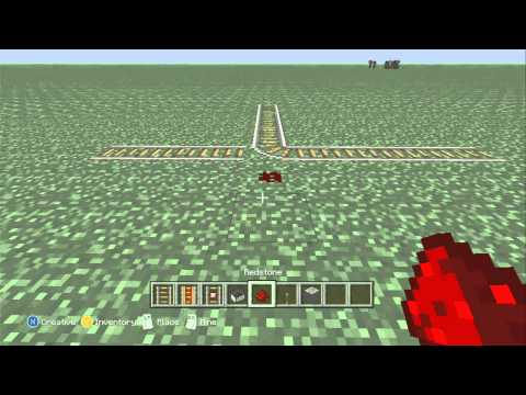 Minecraft - Points Switches & Detector Rails on the Xbox 360