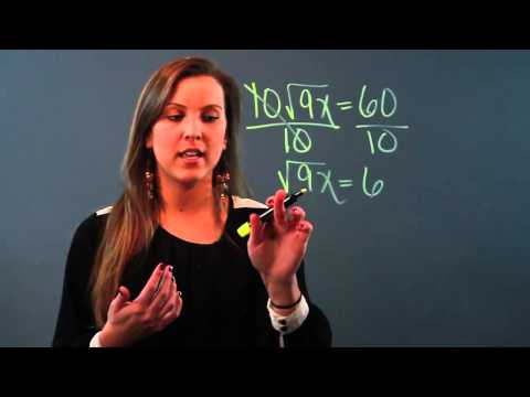 How to Solve Equations With Square Root Terms