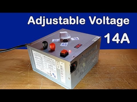 How to make Adjustable Voltage from old Computer power supply 14A at home