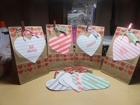 How to Make Valentine's Heart Treat Bags with the January 2016 Paper Pumpkin Kit