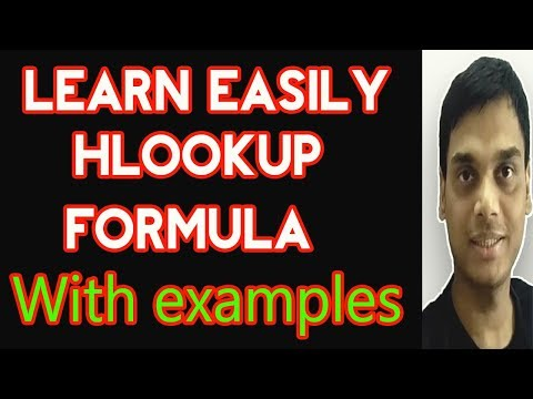 How to use Hlookup formula in Excel easily with examples   Hlookup dropdownlist   Helping abhi