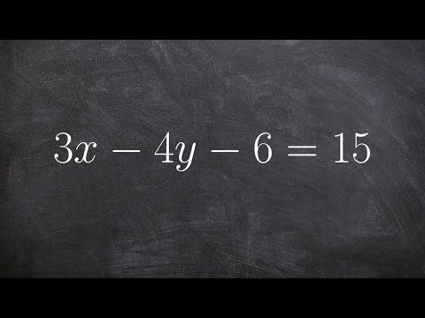 How to find the x and y intercepts for a linear equation