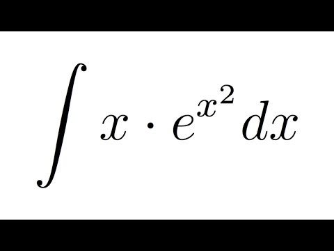 Integral of x*e^(x^2) (substitution)