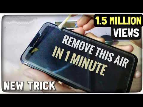 How to Remove Air From Tempered Glass | Removing Halo Effect From Screen Protector