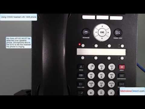 Avaya 1408 with CS540 headset - How to install