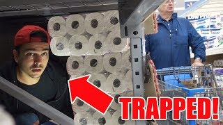 Do NOT Make A Toilet Paper Fort BY YOURSELF! I GOT TRAPPED IN WALMART!